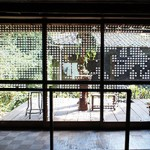古民家カフェ 窓ガラス